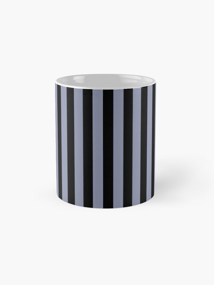 Alternate view of Cool Gray and Black Vertical Stripes Mug
