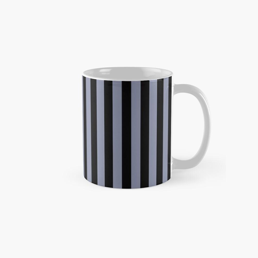 Cool Gray and Black Vertical Stripes Mug