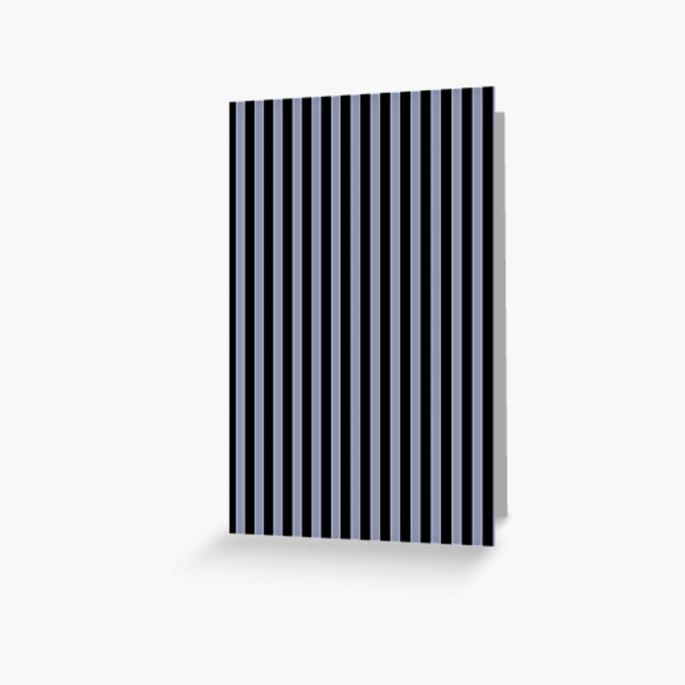 Cool Gray and Black Vertical Stripes Greeting Card