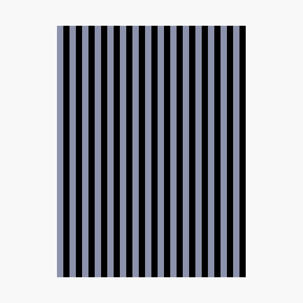 Cool Gray and Black Vertical Stripes Photographic Print