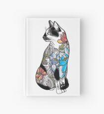 Cat in Lotus Tattoo Hardcover Journal
