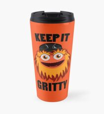 Keep It Gritty Hockey Mascot Travel Mug