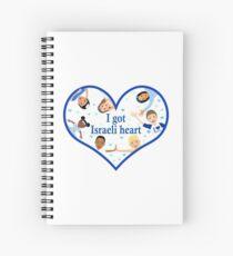 I got Israeli Heart  Spiral Notebook
