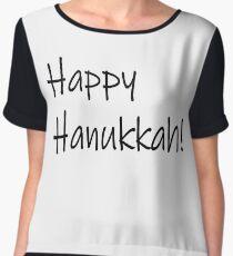 Happy Hanukkah #Happy #Hanukkah #HappyHanukkah #Drawing #VisualArtForm #VisualArt #Form #Visual #Art Chiffon Top