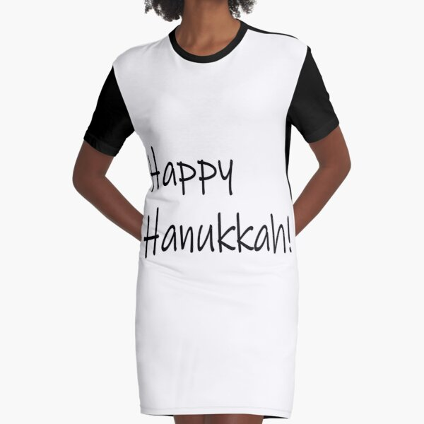 Jewish,  Happy Hanukkah #Happy #Hanukkah #HappyHanukkah #Drawing #VisualArtForm #VisualArt #Form #Visual #Art Graphic T-Shirt Dress