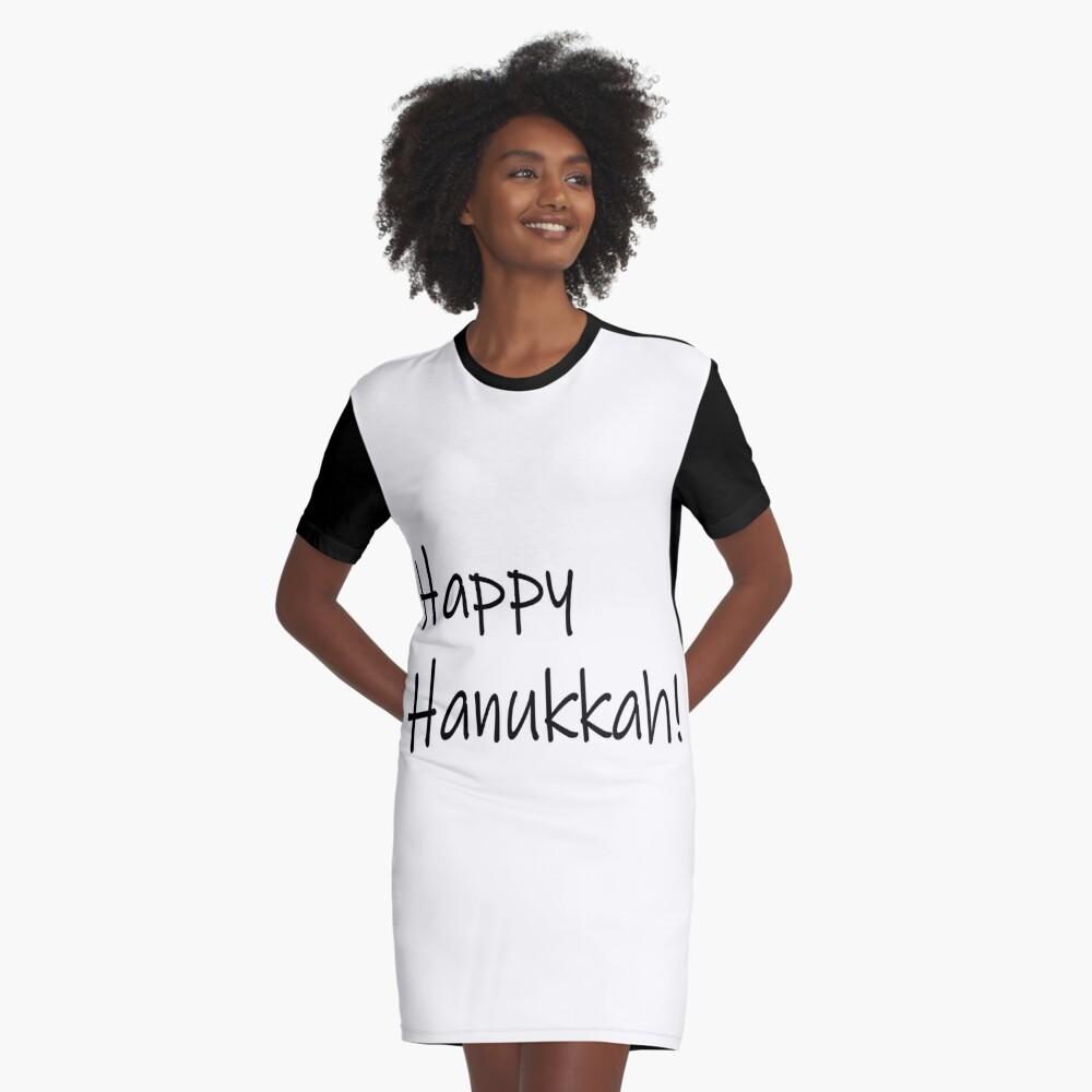 Happy Hanukkah #Happy #Hanukkah #HappyHanukkah #Drawing #VisualArtForm #VisualArt #Form #Visual #Art Graphic T-Shirt Dress
