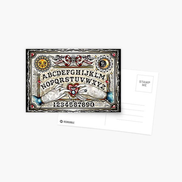 Ouija Board Cute Traditional Tattoo Flash Postcard