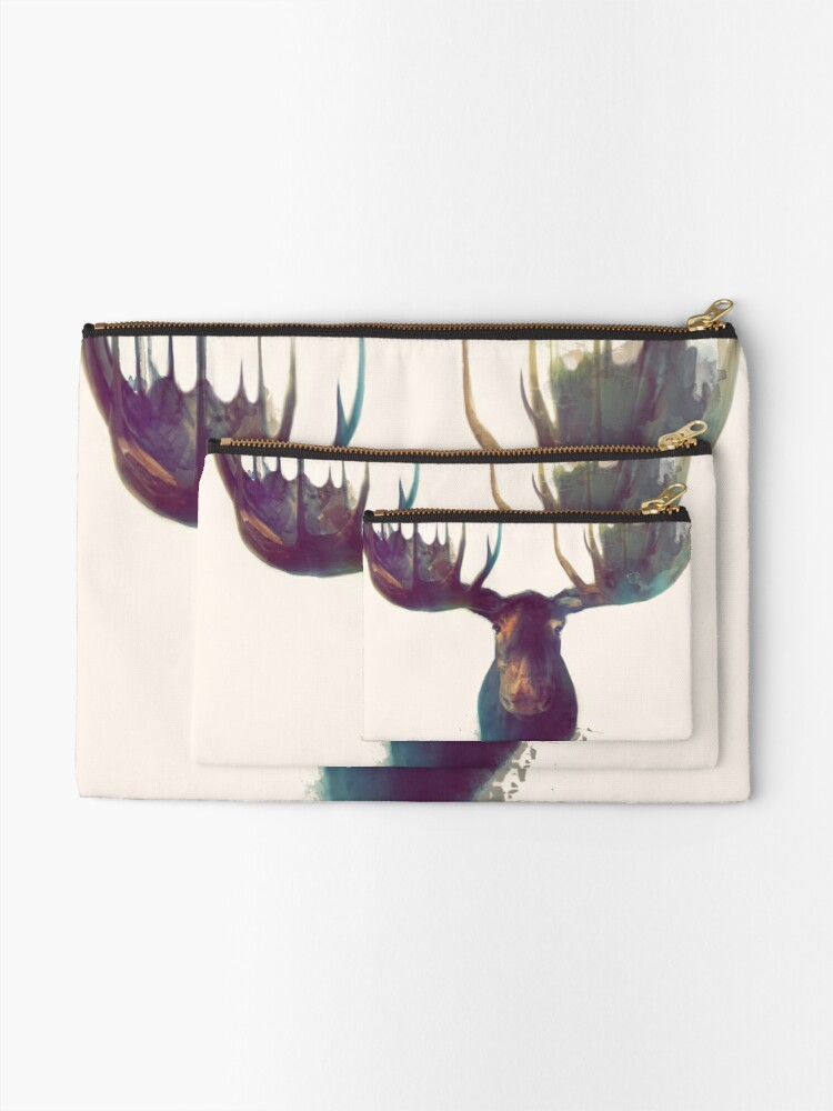 Alternate view of Moose Zipper Pouch