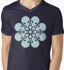 Alien / flower mandala Men's V-Neck T-Shirt