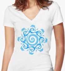 Turn The Tide  Women's Fitted V-Neck T-Shirt