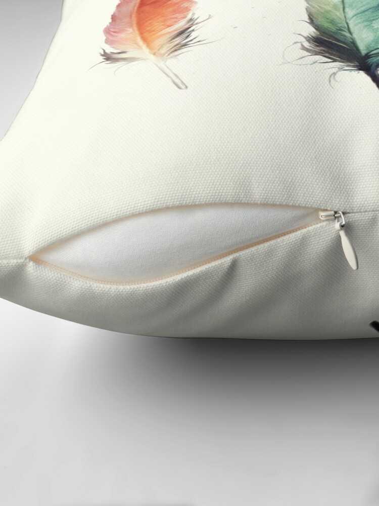 Alternate view of Feathers Throw Pillow