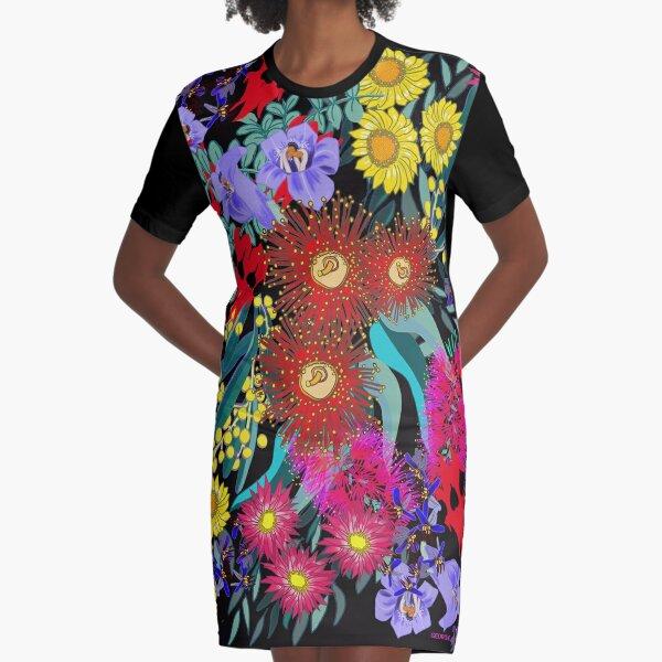 iPad Art - Flora Abunda Graphic T-Shirt Dress
