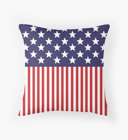 Stylized American Flag Throw Pillow