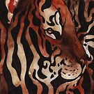 Watercolor Wildlife: Emerge (Tiger) by NoelleMBrooks