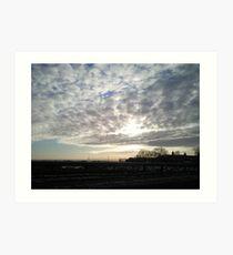 Sunset over Aberdeenshire Art Print