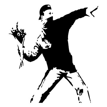 Flower Throwing Guy Graffity - Cool Valentines Gift for Men by LuckyU-Design