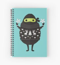 Ninjacado in Holiday Sweater Spiral Notebook