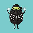 Ninjacado im Feiertagsstrickjacke von daisy-beatrice