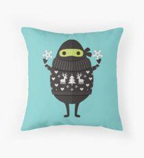 Ninjacado in Holiday Sweater Floor Pillow