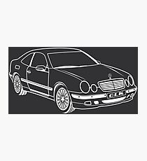 Mercedes clk w208 Photographic Print