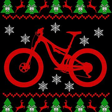 Mountain bike Christmas by mtsdesign
