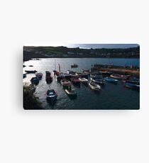 Coverack Harbour Canvas Print