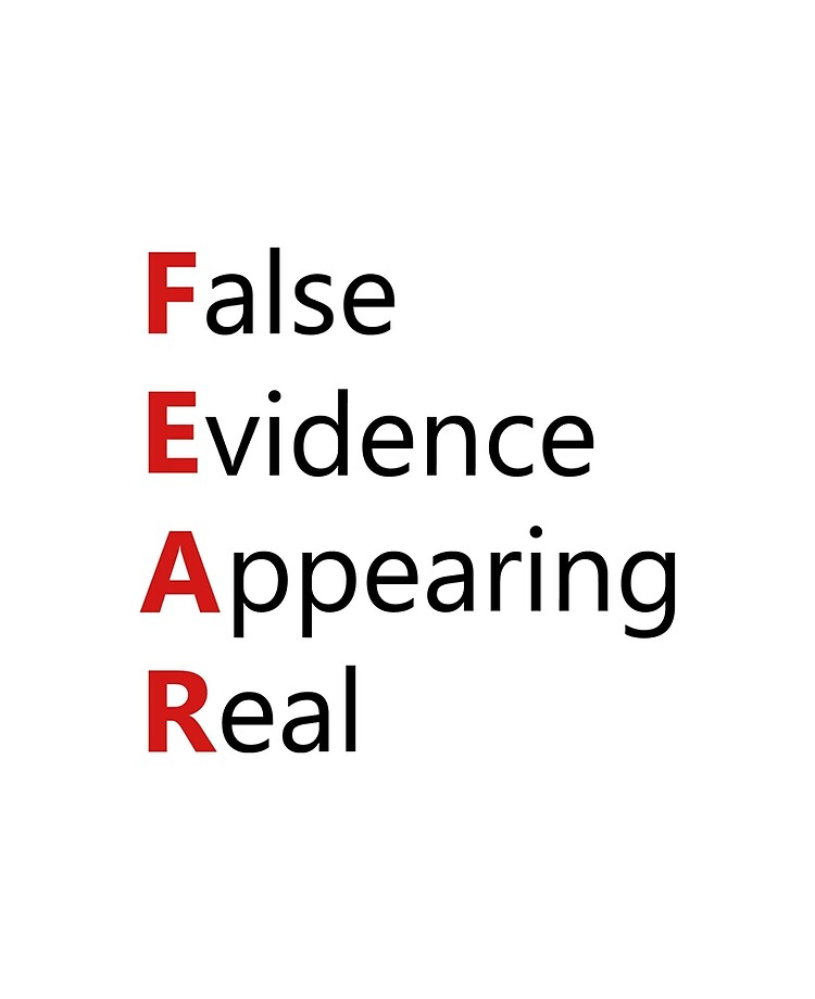 """Definition of FEAR - False Evidence Appearing Real"""" iPad Case & Skin by AaronIsBack 
