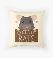 queen of rats Throw Pillow