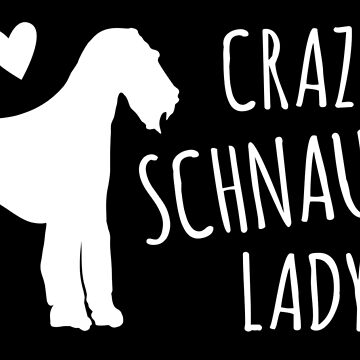 Crazy cute dog Schnauzer Lady by jazzydevil