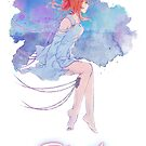 « Eternity - Nanami in the night (watercolor ver.) » par Sedeto