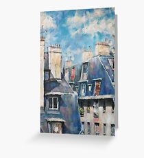Roofs of Montmartre Greeting Card