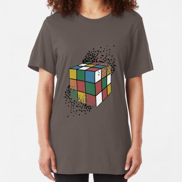 Rainbow Geek Nerd Math Science Men/'s Tank Top T-shirt Melting Rubiks Cube
