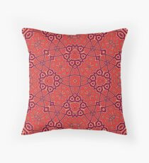 Abstract Pattern red Throw Pillow