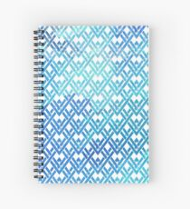 Pattern triangle geometric blue turquoise gift Spiral Notebook