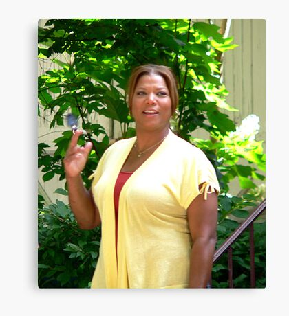 Queen Latifa on the set Canvas Print