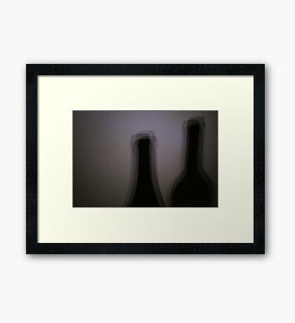 Blurred Double Vision Framed Print