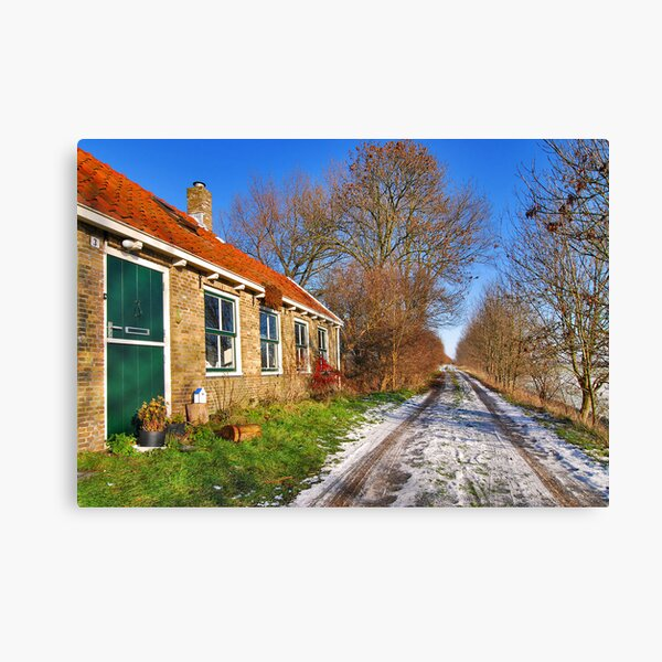 The house on the dike Canvas Print