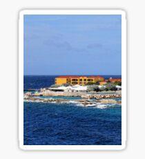 a desolate Curacao landscape Sticker