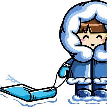Kawaii Cute Fun In The Snow by freeves