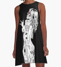Inked Metalgirl A-Line Dress