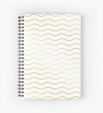 Pattern wave gold gift Spiral Notebook