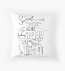We Bought A Zoo Quote Throw Pillow