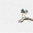 Don't worry, bird watercolor / Matthew 6:26-27 by Jeri Stunkard