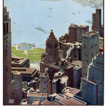 USA New York Vintage Poster Restored by vintagetreasure