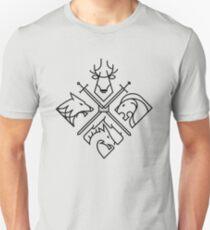 Camiseta ajustada Casas de Juego de Tronos - Logo negro