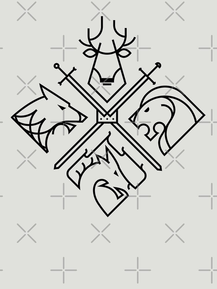 Game of Thrones Houses - Schwarzes Logo von LunaBlueMom