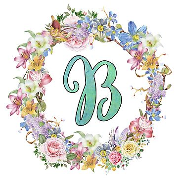 monogram letter b girly typography by untagged-shop