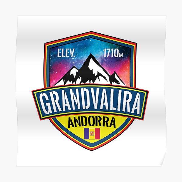 Vintage Ski Art Pal Arinsal Grandvalira Snowboarding Poster Ordino Arcalis Vallnord Gift Andorra Ski Resort Print Skiing Pyrenees
