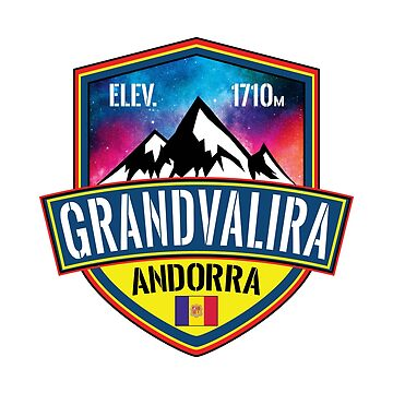 Ski Grandvalira Andorra Skiing Pyrenees Mountains by MyHandmadeSigns