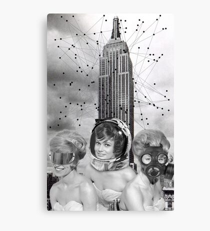 Black & White Collection -- We Built This City Canvas Print